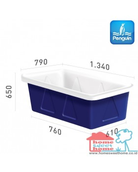 Bak Serbaguna Penguin Rectangular Open-Top Tank BTS 50