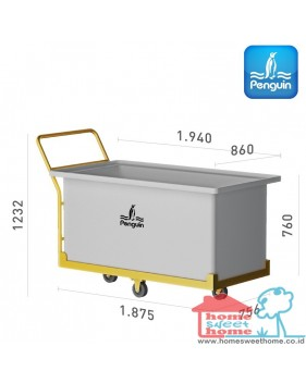 Bak Serbaguna Penguin Rectangular Open-Top Tank BT 100