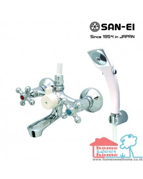 Bath Mixer with Shower Set San-Ei SK30X
