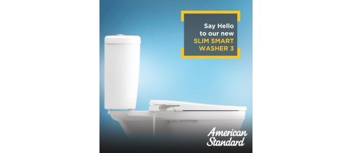 American Standart Bidet seat cover New Slim Smart Washer 3
