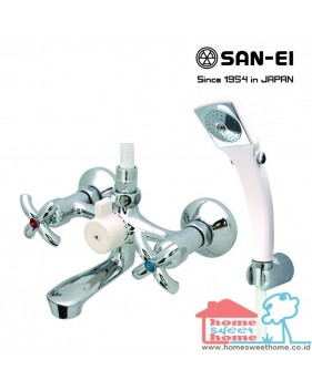 Bath Mixer with Shower Set San-Ei SK30PR