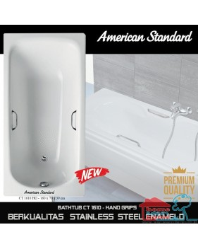 American Standard New Bathtub spa160 cm with hand grips steel enameld